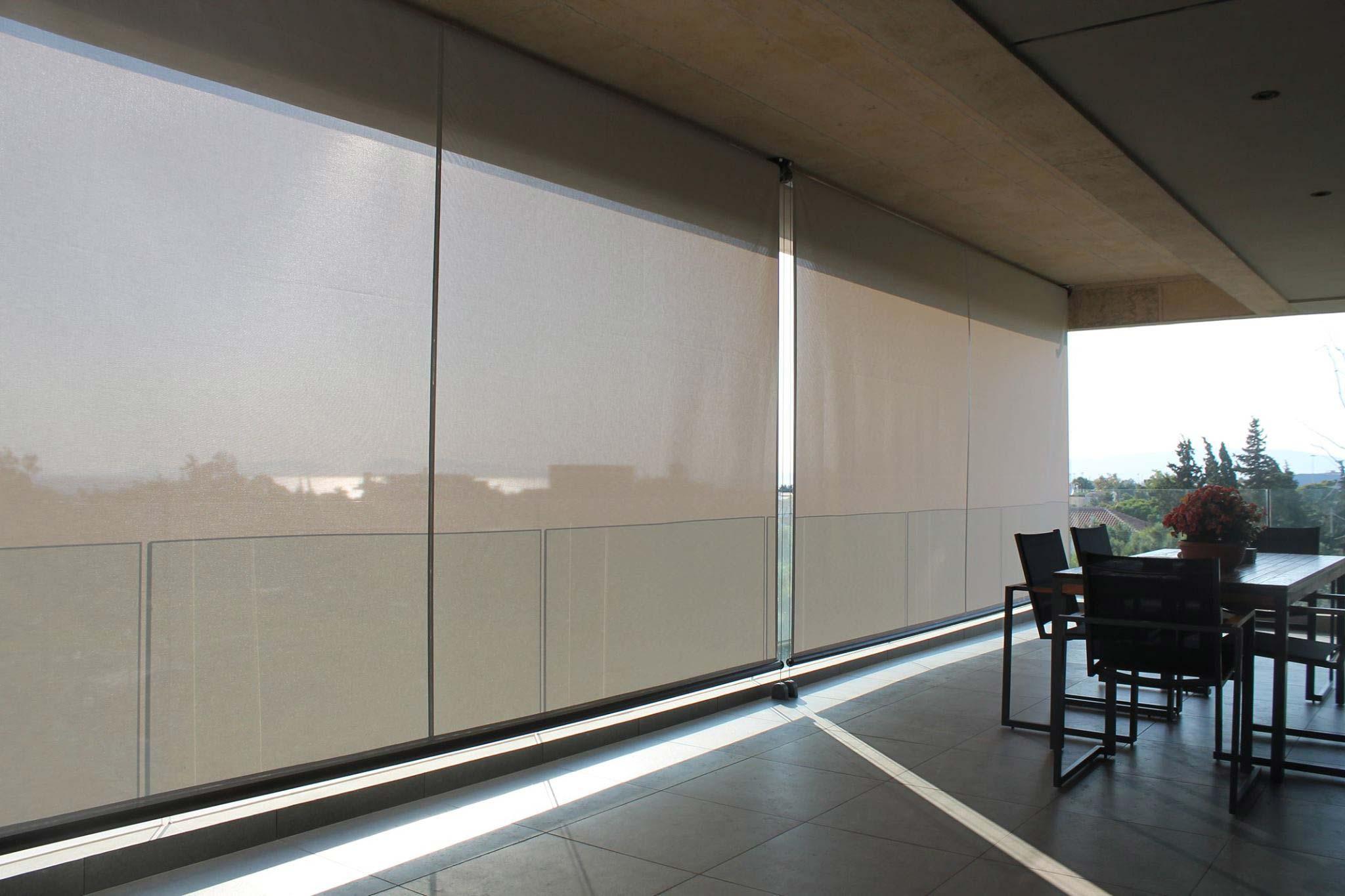 aussen rollo finest balkon rollo wunderbar sichtschutz rollo balkon aussenrollo terrassen. Black Bedroom Furniture Sets. Home Design Ideas