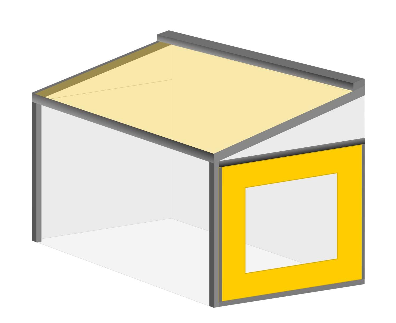 Terrasseneinhausung: Wetterschutzrollo