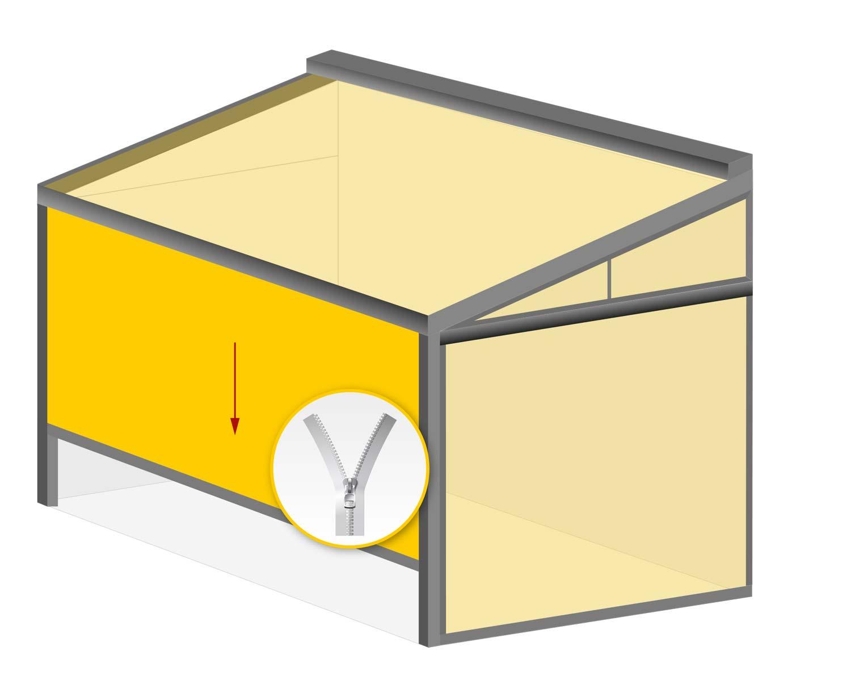 Terrasseneinhausung: Zip Screen